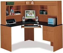 bush hm38410 corner desk and hutch centra collection natural