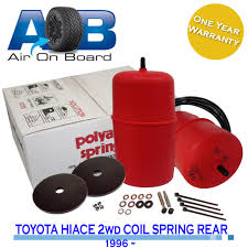 polyair suspension kit air bag to suit toyota hiace 2wd 1996 coil