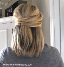 half updo hairstyles for short hair back to cute amp easy