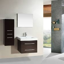 Bathroom Vanity With Matching Linen Cabinet by 28 Inch Wall Mounted Single Espresso Wood Bathroom Vanity