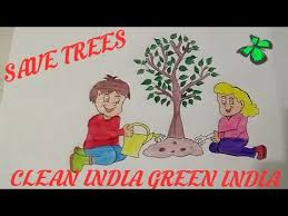 how to draw tree drawing for kids save trees save earth save
