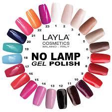 no lamp gel polish layla cosmetics
