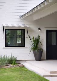 Porch Awnings Porch Awnings Entry Farmhouse With Awning Black And White Black