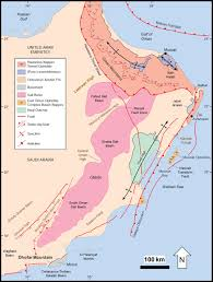 Map Of Oman The Main Structural Styles Of The Hydrocarbon Reservoirs In Oman