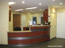 Modern Office Reception Desk by Home Office Pale Yellow Wall Color With Adorable Chandelier For