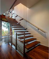 Stairs With Laminate Flooring Interior Architectural Straight Run Stair With Open Tread And