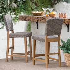 All Weather Wicker Coral Coast Avalonia All Weather Wicker Counter Height Patio Bar