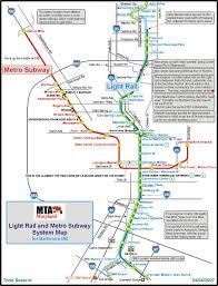 Mta Map Subway Baltimore Metro Subway Railfan Guide Rsus