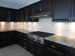 luna pearl granite countertop with white glass metal kitchen