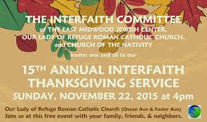 15th annual interfaith thanksgiving service east midwood