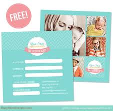 free gift certificate template for photographers logo u0026 package