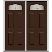 Steel Exterior Doors Home Depot by Mmi Door 72 In X 80 In Master Nouveau Left Hand 1 4 Lite 4 Panel