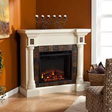 Wall Electric Fireplace Amazon Com Faux Slate Convertible Corner Or Flat Wall Electric