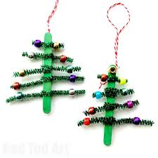 pipecleaner tree ornaments ted s