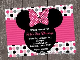 How To Make Minnie Mouse Invitation Cards Minnie Mouse Birthday Invitation Ideas Elizabeth U0027s Minnie Mouse
