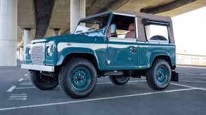 vintage range rover defender this marine blue land rover defender 90 is simply perfect airows