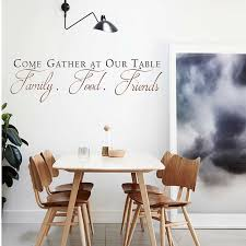 Dining Room Wall Decals Come Gather At Our Table Decal Quotes Wall Sticker Vinyl Dining