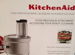 Kitchen Aid Accessories by Kitchenaid Food Processor Attachment Review Youtube