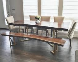 dining room set with bench dining room furniture etsy il
