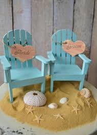 Small Beach Chair Beach Chairs Beach Wedding Cake Topper Bride Groom Chairs
