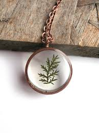 resin necklace pendants images Tiny fern resin pendant necklace real pressed idealpin jpg