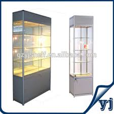 tempered glass shelf commercial display case tall glass cabinet