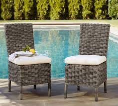 Outdoor Wicker Dining Chair Huntington All Weather Wicker Dining Chair Pottery Barn