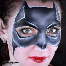 quick and easy batman mask face painting facepaint facepainting