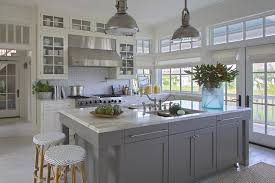 cabinets in sea pearl and revere pewter by benjamin moore