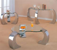 beleved kidney shaped glass occasional tables w chrome legs