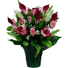 Burgundy Roses Flowers For Cemeteries Inc