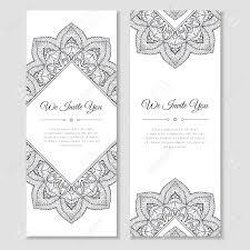 mehndi cards set of cards with mandala ornamental frame indian mehndi east
