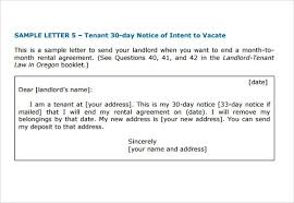 notice vacate to letter 60 day notice to vacate letter 60 day