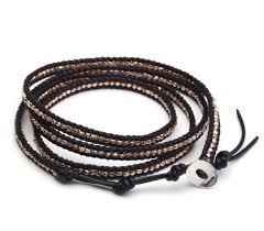 wrap wrist bracelet images Rose gold and leather wrist wrap rose gold leather bracelet gold jpg