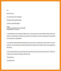 email after job rejection sample job offer rejection letter due