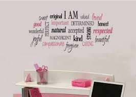Cool Bedroom Wall Collages I Am Positive Word Collage For Girls Teen By Wildeyessigns