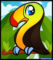 cartoon toucan how to draw a toucan for kids step by animals for 2