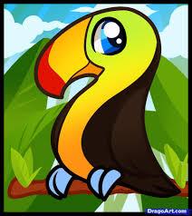 cartoon toucan bird vector vector animal free clipartix