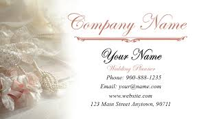 wedding planner business and pearls wedding business card design 701011