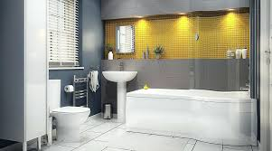 Grey And Yellow Bathroom Ideas Gray And Yellow Bathroom Homefield