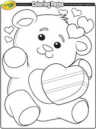 valentine u0027s teddy bear coloring page crayola com