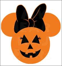 minnie mouse pumpkin jack o lantern instant download halloween