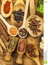 Kitchen Table Sales by Various Kinds Of Spices On The Kitchen Table Seasoning Food