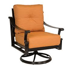 Swivel And Rocking Chairs Woodard 8q0477 Bungalow Outdoor Swivel Rocker Lounge Chair The Mine