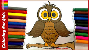 owl coloring pages for kids from coloring pages shosh channel