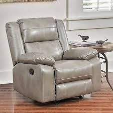 Faux Leather Recliner Abbyson Living Perth Rocker Faux Leather Recliner Chair Ebay