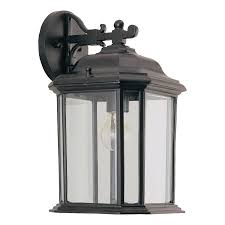 sea gull lighting replacement parts shop sea gull lighting kent 15 in h black outdoor wall light at