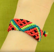 bead string bracelet images Watermelon friendship bracelet png