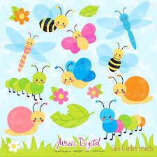 cute garden bugs clipart scrapbook printable insect clip art