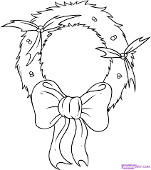 how to draw a wreath step by step christmas stuff seasonal